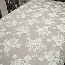 Lace Tablecloth Rose Bouquet White 60x104 Oxford House
