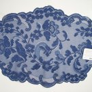 Placemats Elizabeth Indigo Color 14x19 Set Of (4) Heritage Lace