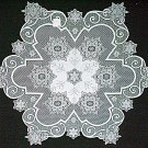 Table Topper Tablecloth Snowflake 47 Inches Round White Heritage Lace