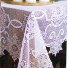 Tablecloth Snowflake 60x86 White Lace Tablecloth Heritage Lace