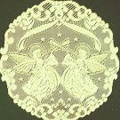 Doily Victorian Angels Ivory 20 Inch R Set Of (2 Round Doilies) Heritage Lace