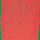 Angels 14x36 Red Table Runner Oxford House