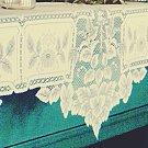 Mantle Scarf Heirloom 20x91 Ecru Mantel Scarf Heritage Lace