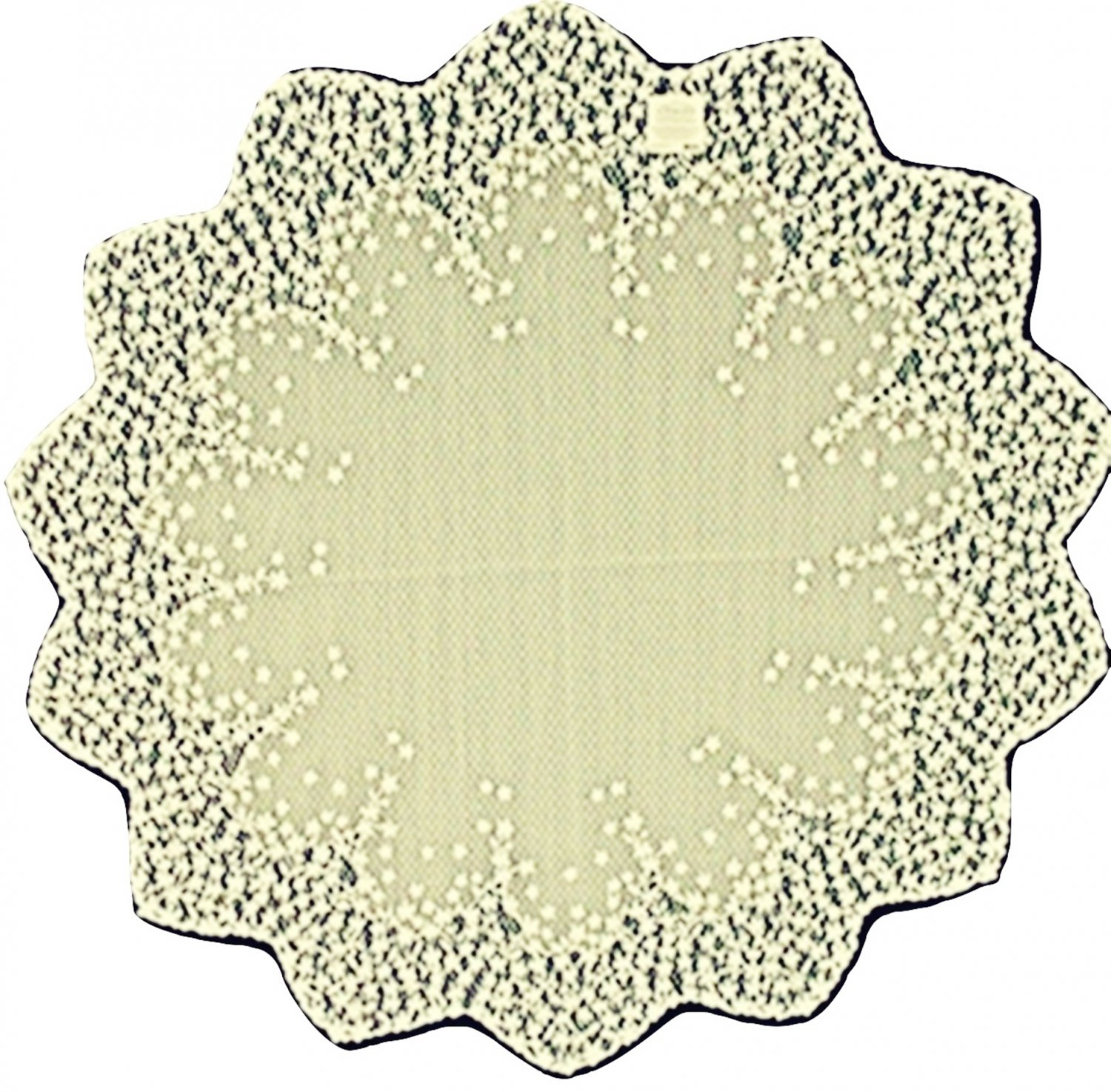 Lace Table Topper Blossom 42 Round Ecru Heritage Lace