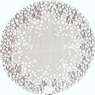 Lace Table Topper Blossom 42 Round White Heritage Lace