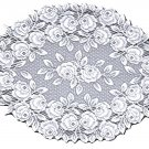 Tea Rose Doily 14x24 White Heritage Lace Set Of (2)