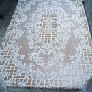 Tablecloth Trellis Rose Rectangle 60x84 White Oxford House