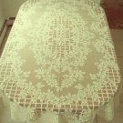 Trellis Rose Rectangle Tablecloth 60x120 Ivory Oxford House