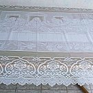 Last Supper Rectangle 60x108 White Tablecloth Oxford House