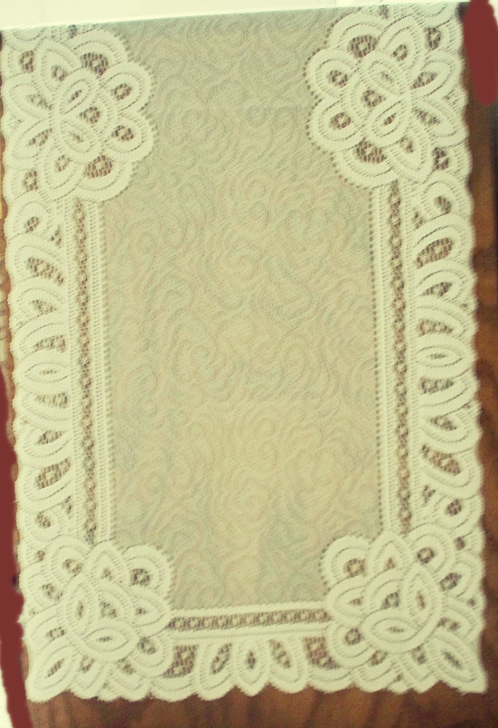 Table Runners Battenburg Paisley Table Runner 14x36 Ivory Lace/Material Runner Oxford House