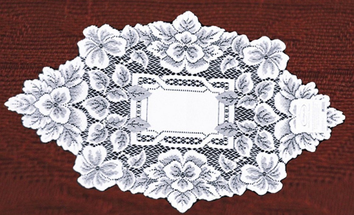 Heirloom Doily 12 x 20 White Heritage Lace Set Of (2) Doilies