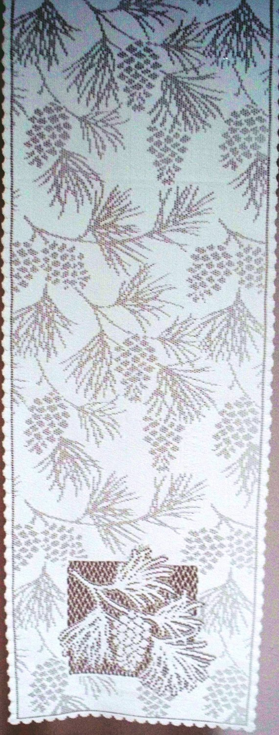 Woodland Table Runner 14 x 45 White Table Runner Heritage Lace