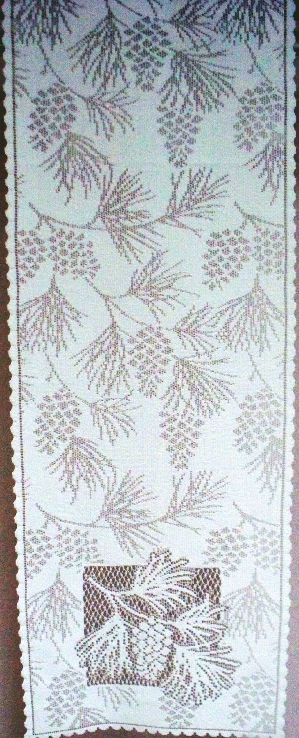Woodland Table Runner 14 x 60 White Table Runner Heritage Lace