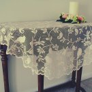 Bristol Garden 45 Inch Round Cafe Color Table Topper Heritage Lace
