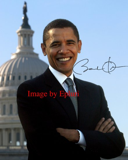 Barack Obama 8x10 preprinted autographed photo