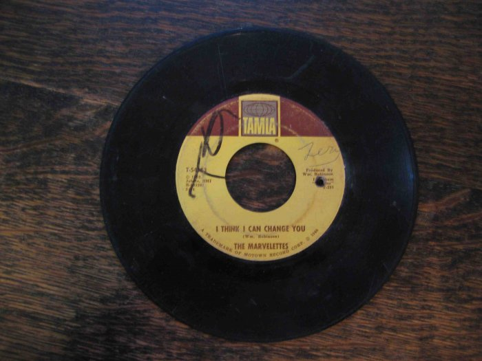 "Marvelettes Motown 45rpm: ""I Think I Can Change You"" b/w ""Hunter Gets Captured"" (1966)"