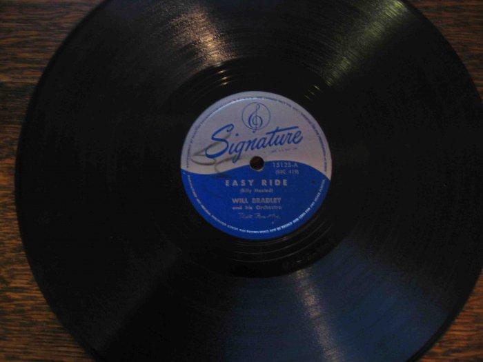 """Will Bradley 78 rpm record, """"Easy Ride"""" b/w """"Washboard Blues"""""""