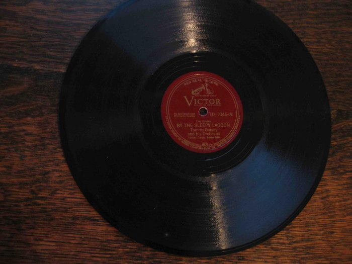 "Tommy Dorsey 78 rpm, ""By the Sleepy Lagoon"" b/w ""Melody"""
