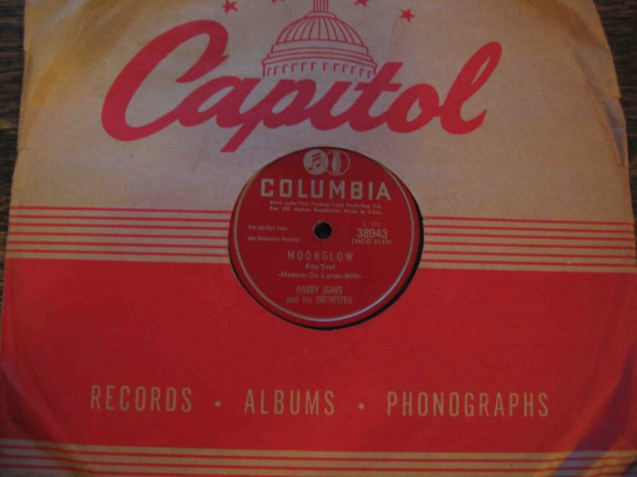 """Harry James 78 rpm record, """"Moonglow"""" b/w """"Show Me the Way to Get out of This World"""""""
