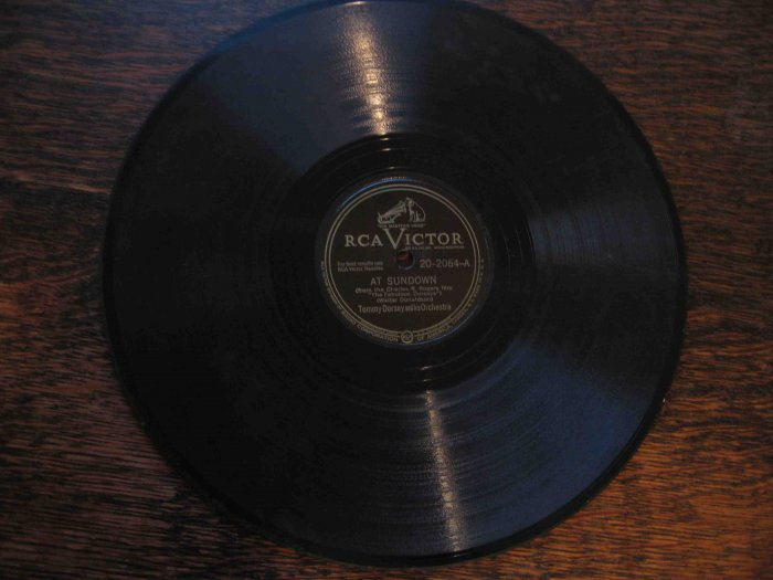 """Tommy Dorsey 78 rpm record, """"At Sundown"""" b/w """"To Me"""" (from The Fabulous Dorseys)"""