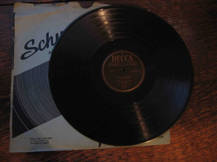 "Al Alberts & the Four Aces 78rpm, ""I'm Yours"" b/w ""I Understand"""