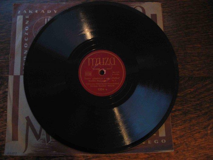 """Muza label Polish 78 rpm record: """"Tance góralskie z op. 'Halka,'"""" with Stanislaw Wislocki"""