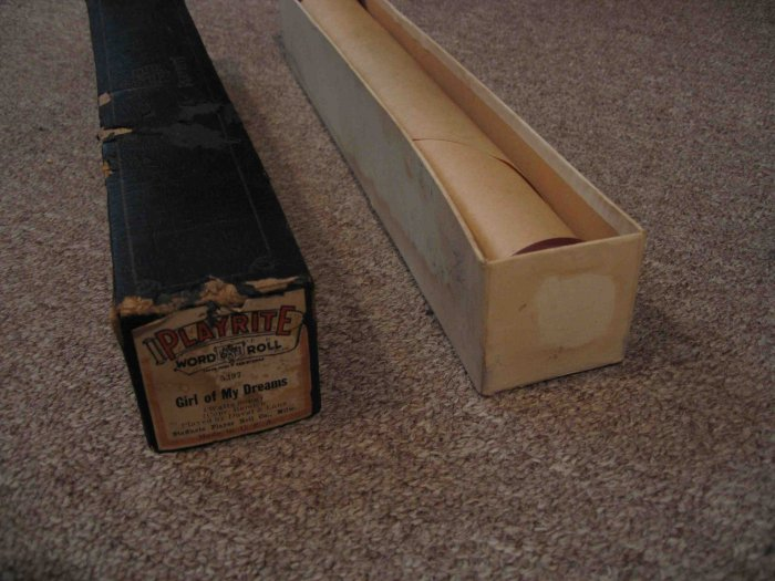"""Duval & Lane piano roll, """"Girl of My Dreams"""""""