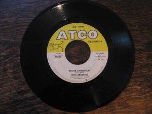 "Otis Redding 45rpm single, ""White Christmas"" b/w ""Merry Christmas, Baby"" (Atco)"
