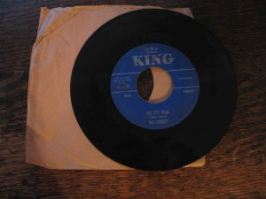 "Bill Doggett 45rpm single, ""Big City Drag"" b/w ""After Hours"" on King"
