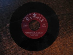 "Lennon Sisters 45rpm single, ""To Know You Is to Love You"" b/w ""Hide Your Troubles behind a Smile"""