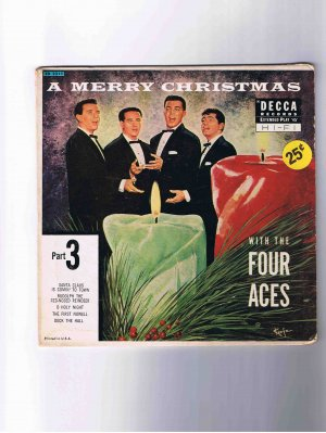 """""""A Merry Christmas with the Four Aces"""" 45rpm EP with picture sleeve"""