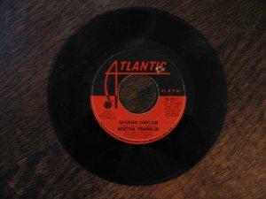 "Aretha Franklin 45rpm single, ""Spanish Harlem"" b/w ""Lean on Me"" (1970, Atlantic)"