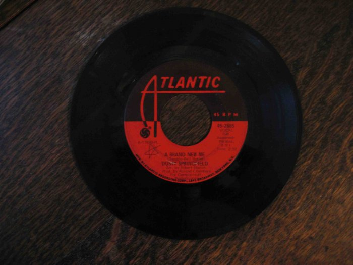 "Dusty Springfield 45rpm single, ""Brand New Me"" b/w ""Bad Case of the Blues"" (1970, Atlantic)"