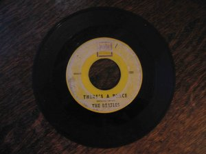 "Beatles 45rpm single, ""There's a Place"" b/w ""Twist and Shout"""