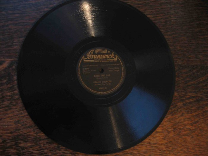 """Frank Melrose 78 rpm record, """"Pass the Jug"""" b/w """"Jelly Roll Stomp"""" (1929)"""