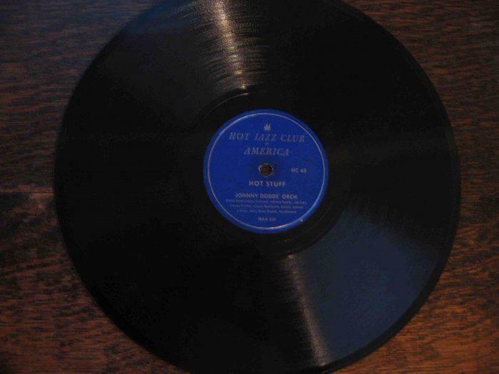 """Johnny Dodds 78 rpm dixieland record, """"Hot Stuff"""" b/w """"Have Mercy"""""""
