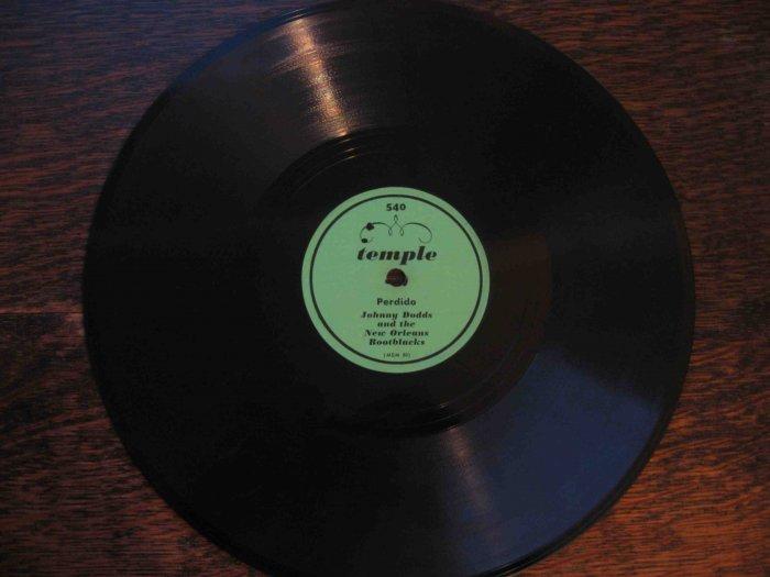 "Johnny Dodds 78 rpm dixieland record, ""Perdido"" b/w ""Gatemouth"""