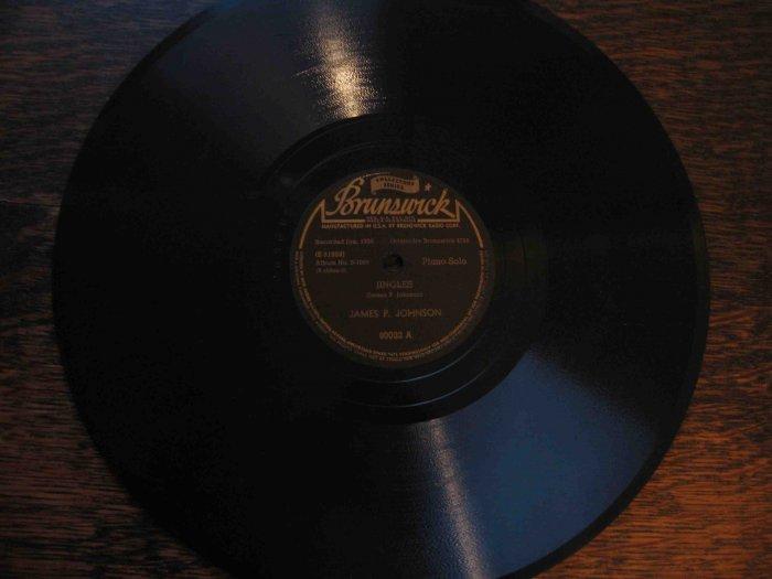 "James P. Johnson 78 rpm record, ""Jingles"" b/w ""You've Got to Be Modernistic"" (1930)"