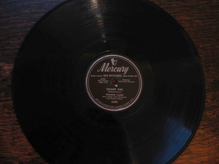 "Frankie Laine 78 rpm record, ""Swamp Girl"" b/w ""(Give Me) A Kiss for Tomorrow"""