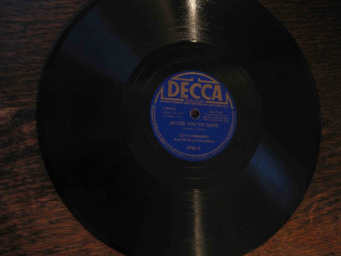 "Guy Lombardo 78 rpm record, ""After You've Gone"" b/w ""Nobody's Sweetheart"""