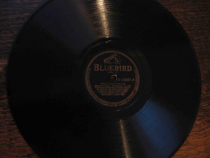 "Red McKenzie 78 rpm record, ""Hello, Lola"" b/w ""One Hour"" w/Gene Krupa, Coleman Hawkins"