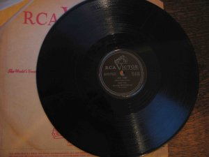 """Eddie Fisher/Hugo Winterhalter 78 rpm record, """"Any Time"""" b/w """"Never Before"""""""