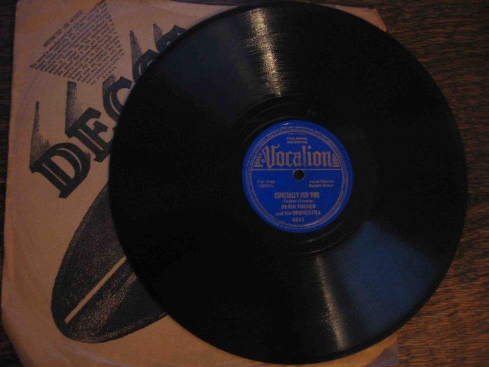 "Orrin Tucker/Bonnie Baker 78 rpm record, ""Especially for You"" b/w ""I Need Lovin'"""