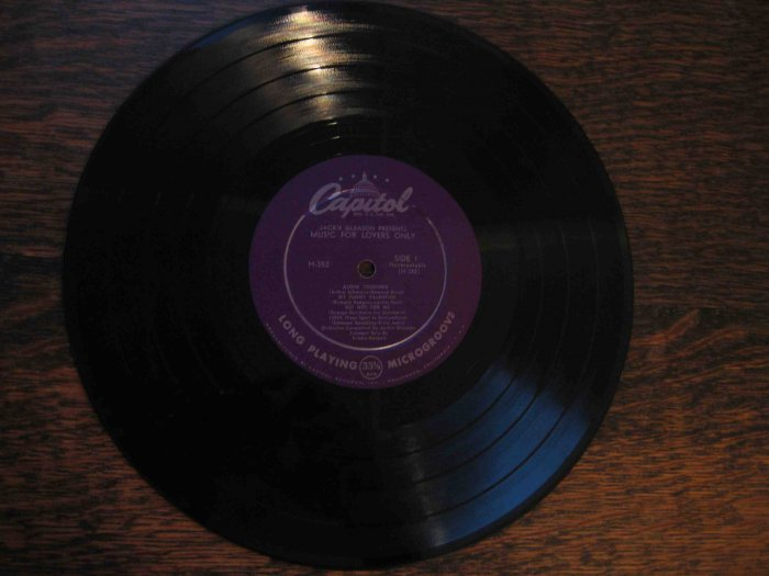 """""""Jackie Gleason Presents Music for Lovers Only"""" with Bobby Hackett, 10"""" 33 rpm"""