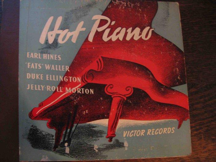 """Hot Piano"" 78 rpm album with Earl Hines, Fats Waller, Duke Ellington, Jelly Roll Morton"