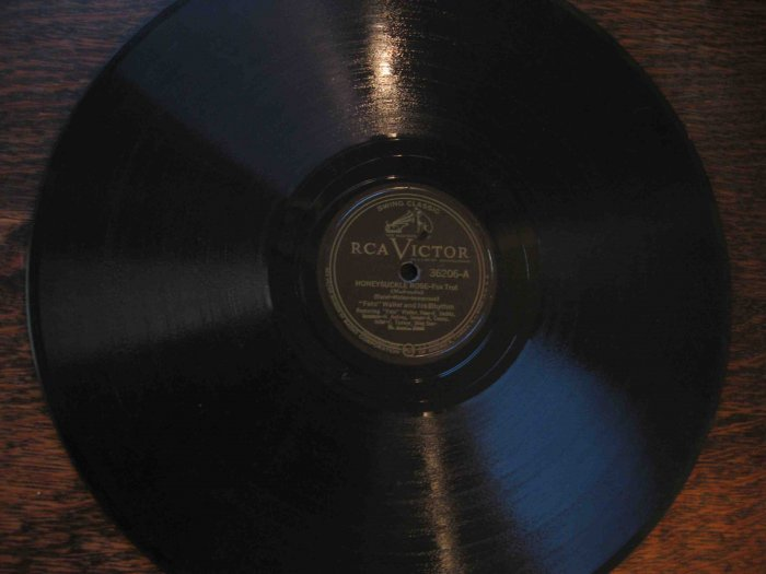 "Fats Waller 12"" 78 rpm record, ""Honeysuckle Rose"" b/w ""Blue, Turning Grey over You"""
