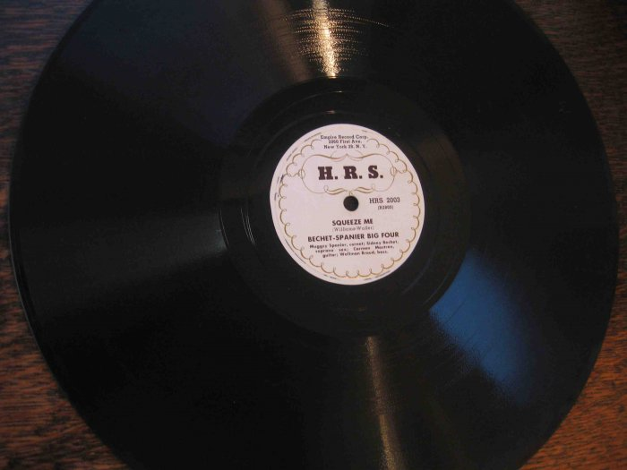 """Sidney Bechet/Muggsy Spanier 12"""" 78 rpm record, """"Squeeze Me"""" / """"Sweet Sue, Just You"""""""