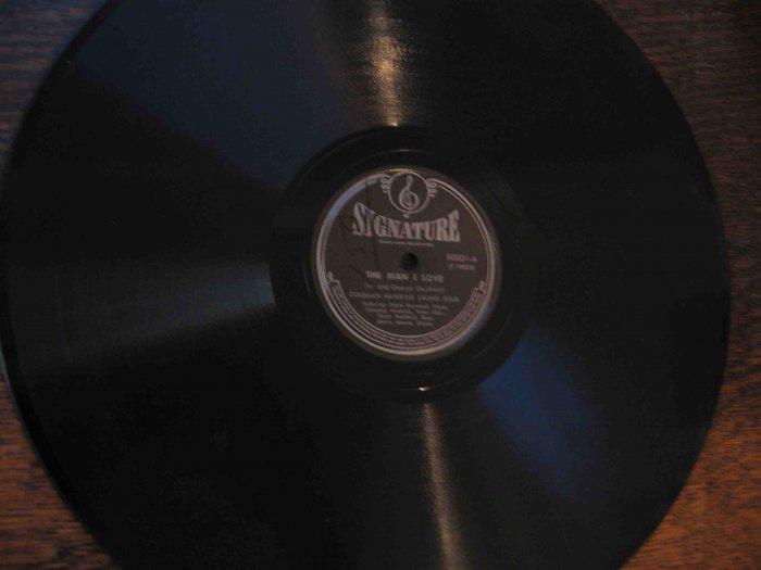 "Coleman Hawkins 12"" 78 rpm record, ""The Man I Love"" / ""Sweet Lorraine"""