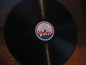 "Al Goodman 12"" 78 rpm V Disc, ""The Man I Love""/""Make Believe""/""Danny Boy""/""Song of the Vagabonds"""