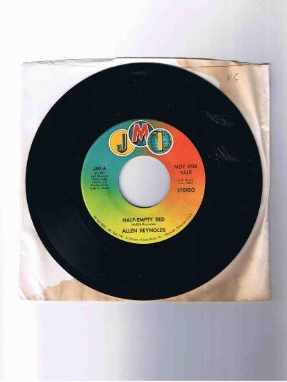 "Allen Reynolds 45 rpm Nashville country single, ""Half-Empty Bed"" (1972)"